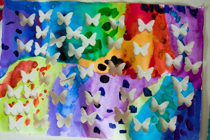 butterfly craft: Butterflies Crafts, Kids Watercolor, Crafts Rooms, Paintings Canvas, Paper Punch, Water Color, Kids Crafts, Crafts Blog, Kids Rooms