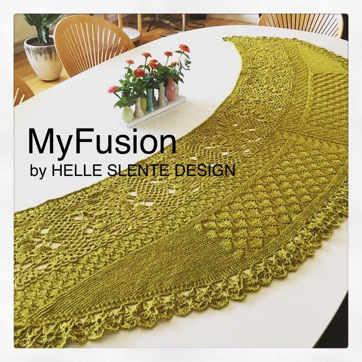 The beautiful MyFusion shawl by Helle Slente Design | both knitted & crocheted