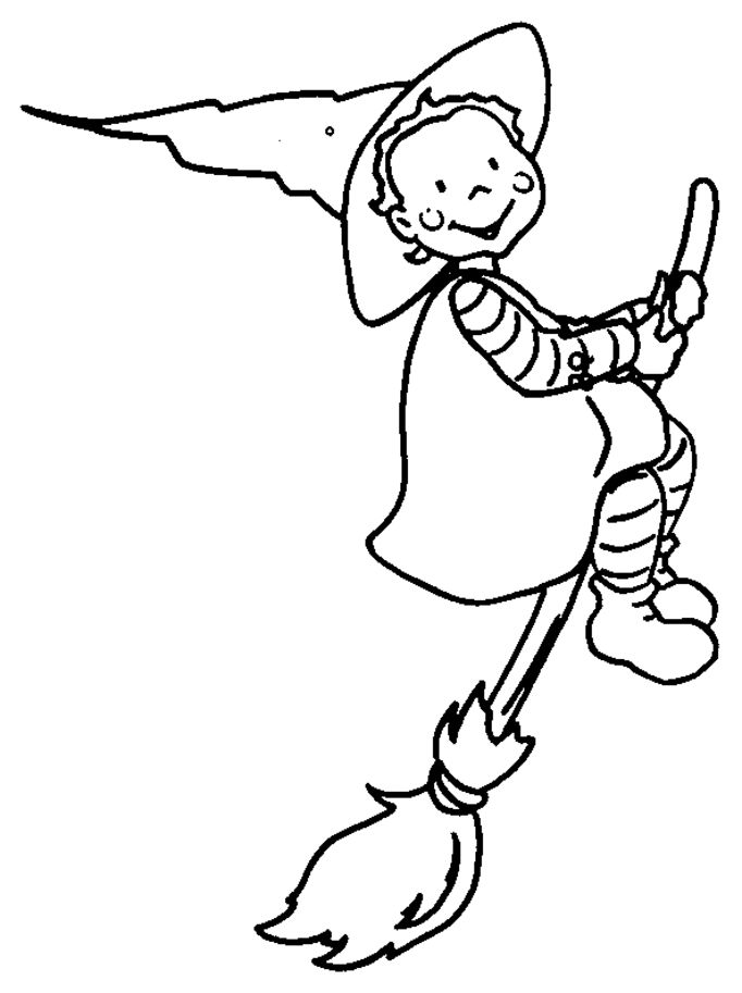 Witch Coloring Pages GIF Image 682 X 913 Pixels