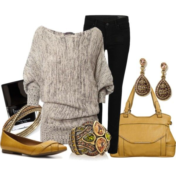 OutfitJeans Grey, Fall Style, Outfit #Mystyle, Outfit My Styl, Black Outfit, Fall Fashion, Cozy Sweaters, Mustard Yellow, Art Outfit