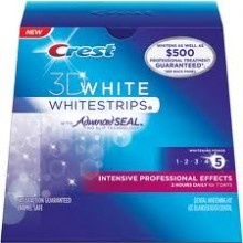 Crest 3D White Intense Professional Effects Whitestrips. New to the UK, for those that wish to teeth whiten and are short of time - 7 days of intense teeth whitening for dramatic results. £42.99 Get ready for that party, wedding, big date with Crest's latest teeth whitening solution, fast, effective, safe and really easy to use with the new non slip advanced seal technology