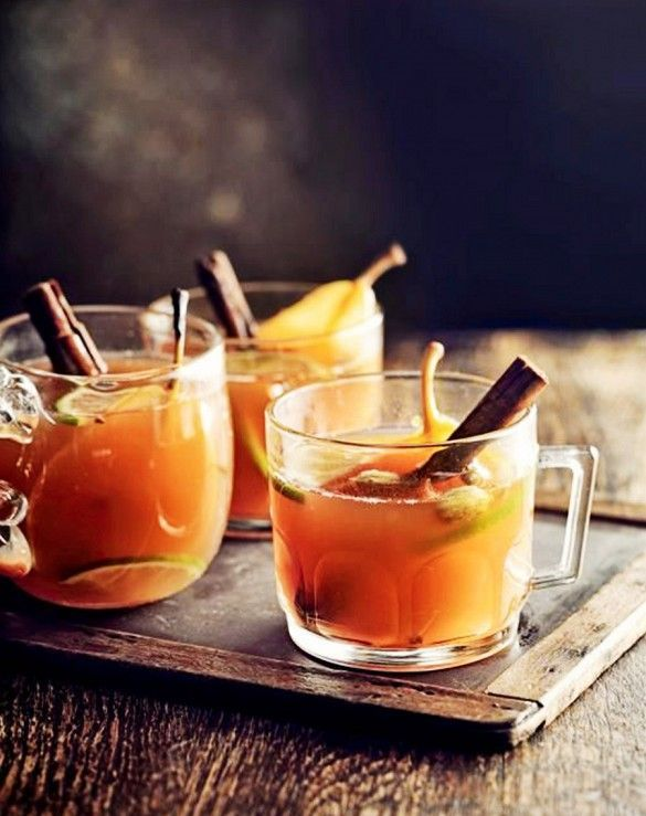 Jamie Oliver's aromatic Mulled Pear and Ginger Cocktail