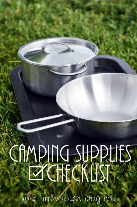 Stay organized with your camping trip and don't forget anything before you go! Here's a free printable Camping Supplies List to use for your next trip.