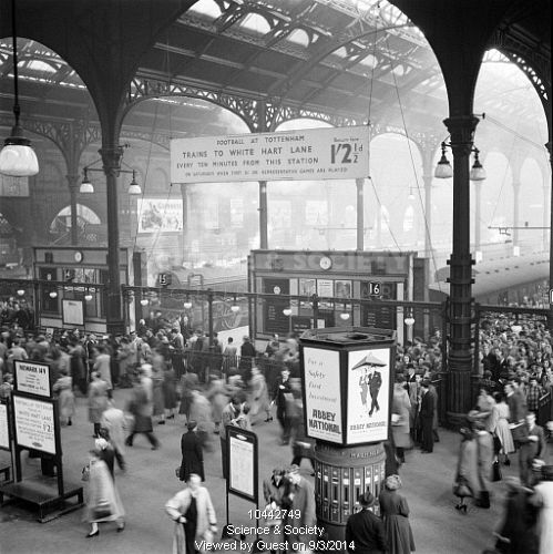 Liverpool Street station, 12 Oct 1951.
