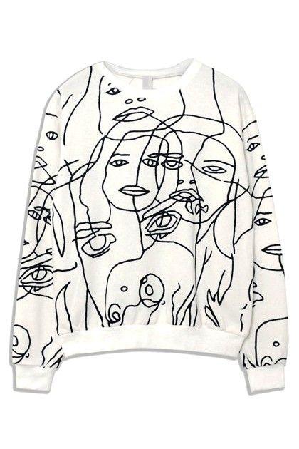 White Face Print Sweatshirt