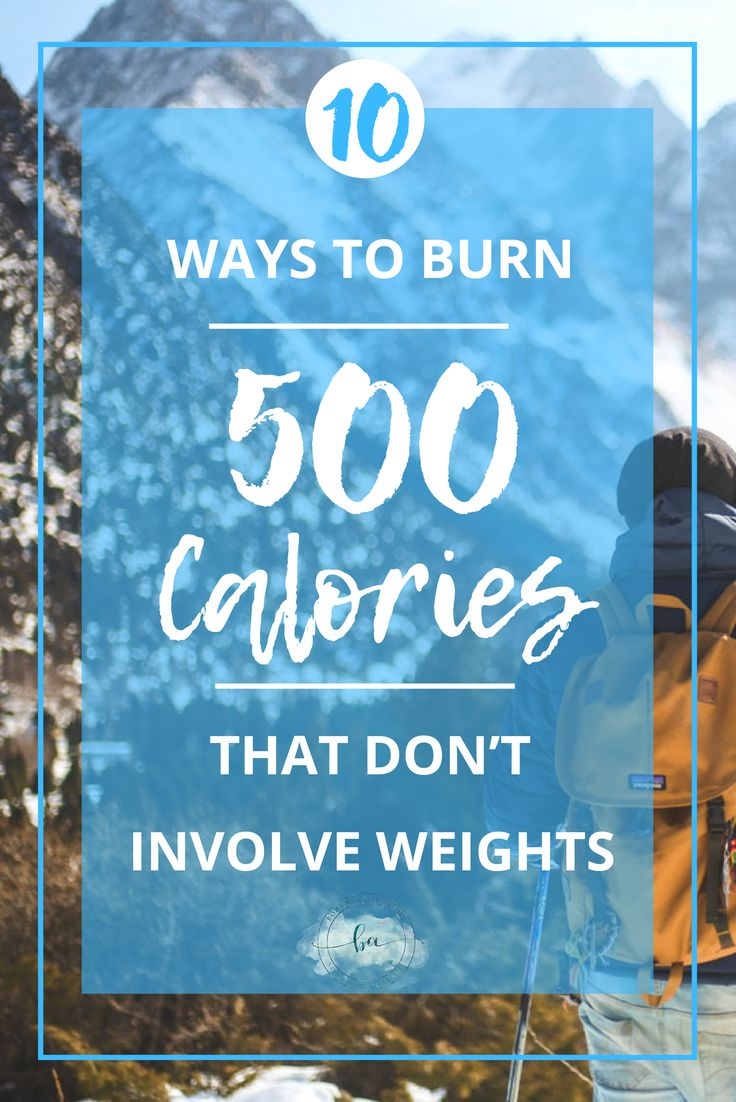 According to the Mayo Clinic, exercise can help relieve stress and anxiety. When exercising, your body releases endorphins which makes you feel better and increases your self-confidence. Make sure your heart rate is 75%-85% of your maximum heart rate throughout the entire workout, to get the maximum effect. Let's have a look at10 Ways to Burn 500 Calories That Don't Involve Weights.