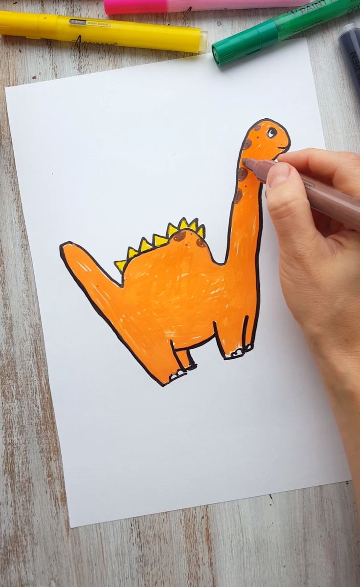 Easy guide how to draw dinosaurs