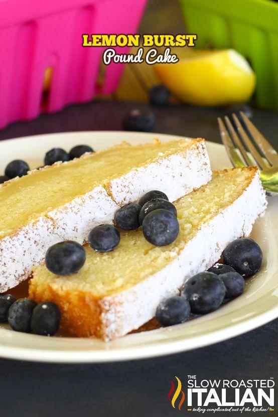 The Best Ever Lemon Burst Pound Cake #TSRISummer