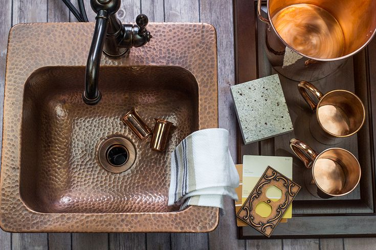 The Seurat is the perfect copper bar sink for an American Craftsman home; copper is perfect and the drop-in design keeps you true to craftsman DIY.