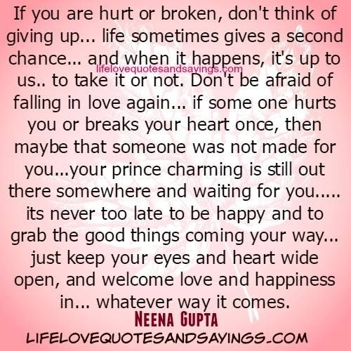 Second Chance To Love Again Quotes | Love Quotes Everyday