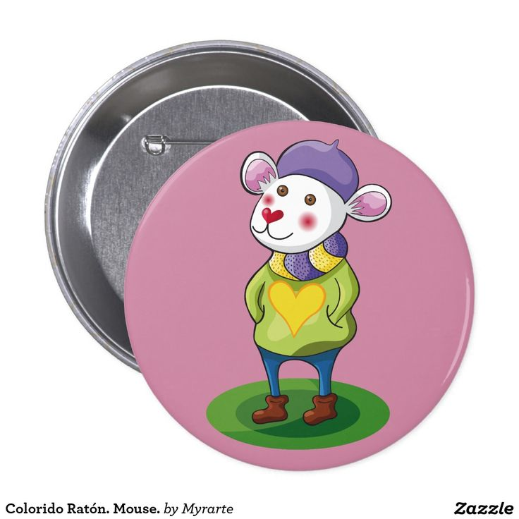 Colorido Ratón. Mouse. Producto disponible en tienda Zazzle. Product available in Zazzle store. Regalos, Gifts. Link to product: http://www.zazzle.com/colorido_raton_mouse_pinback_button-145994087765644174?CMPN=shareicon&lang=en&social=true&rf=238167879144476949 #chapa #button #ratón #mouse