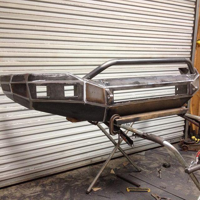 Dodge ram front bumper. #allwheelsfabrication #custom #platebumper #dodge…