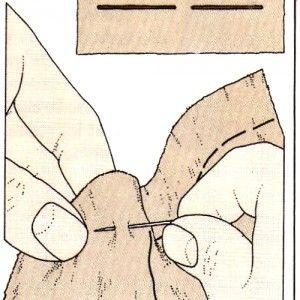 Costura a mano, Hilván largo