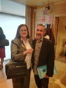 Maximiano Vázquez, representante de ANSEDH, con María Elena Escalante, representante de FEDER Madrid