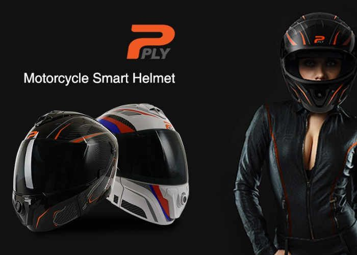 Connected Motorcycle Helmets - The 'PLY' Smart Motorcycle Helmets Protect and Connect Riders