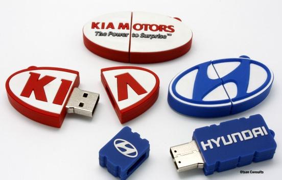 Branded Soft PVC USB keyholders.  $7. MOQ 100pcs.