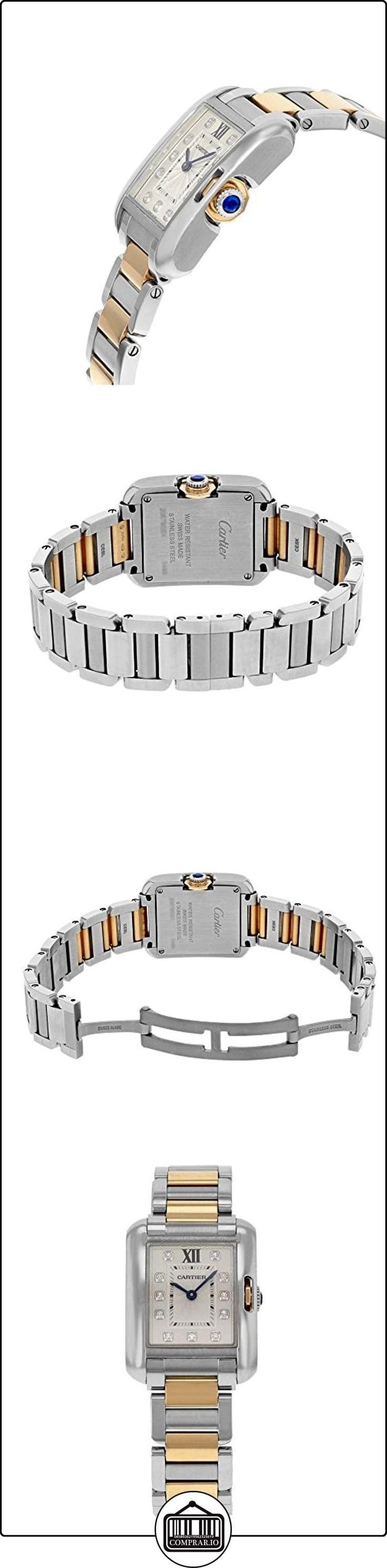 Cartier tanque Anglaise WT100024Acero y 18K Amarillo Oro Cuarzo Ladies Watch  ✿ Relojes para mujer - (Lujo) ✿