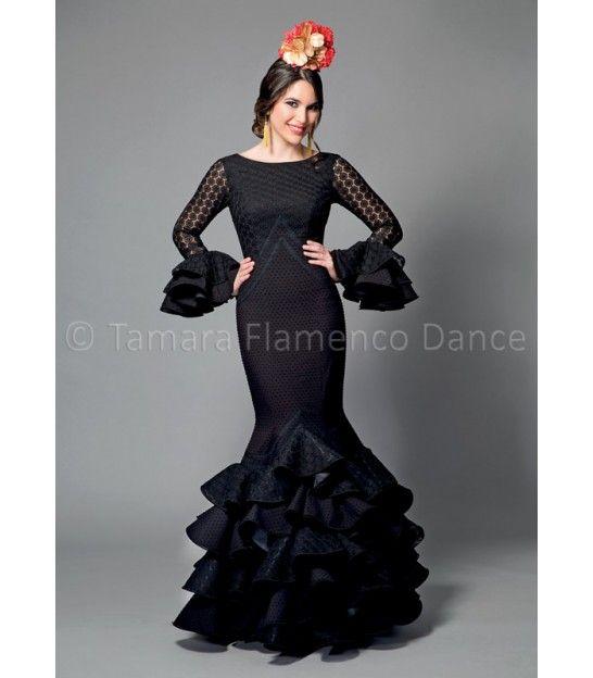 Veronica negro - trajes de flamenca 2016 mujer - Aires de Feria