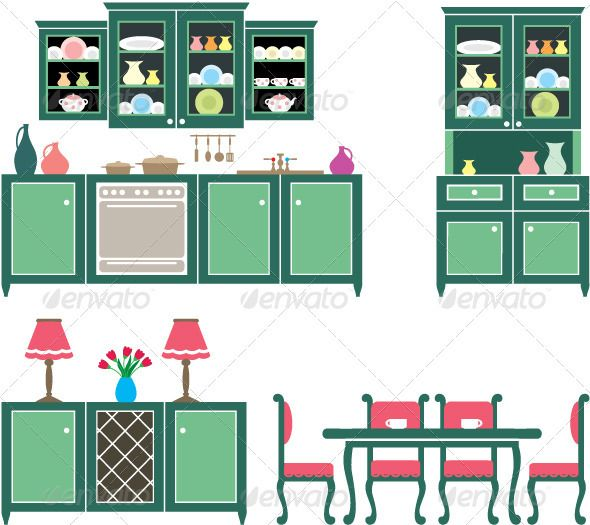Cartoon Kitchen Furniture: 1178 Best PAPER DOLLHOUSE VINTAGE Images On Pinterest