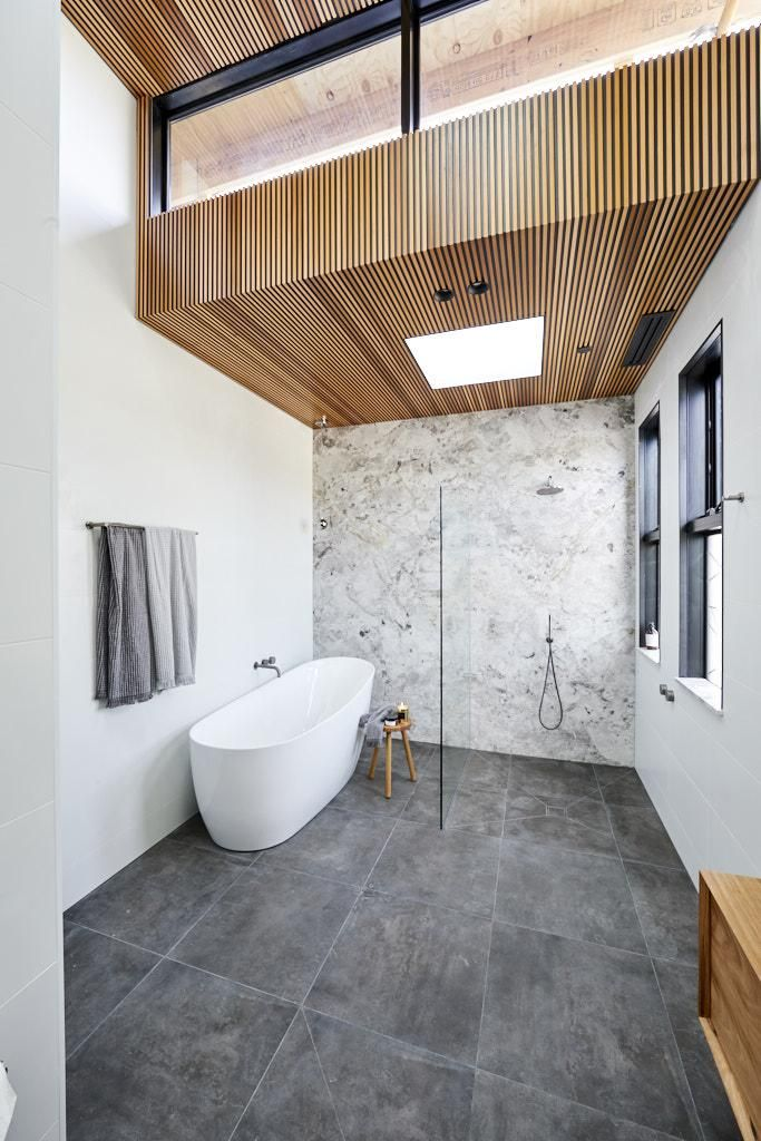 Bathroom Stone Wood 2018 Theblock Mohawk In 2019 The Block