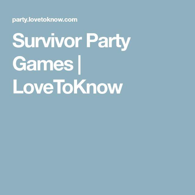 Survivor Party Games | LoveToKnow