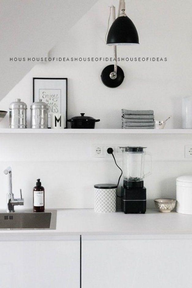 K che schwarz wei im skandinavischen Design #diydekorküche ...
