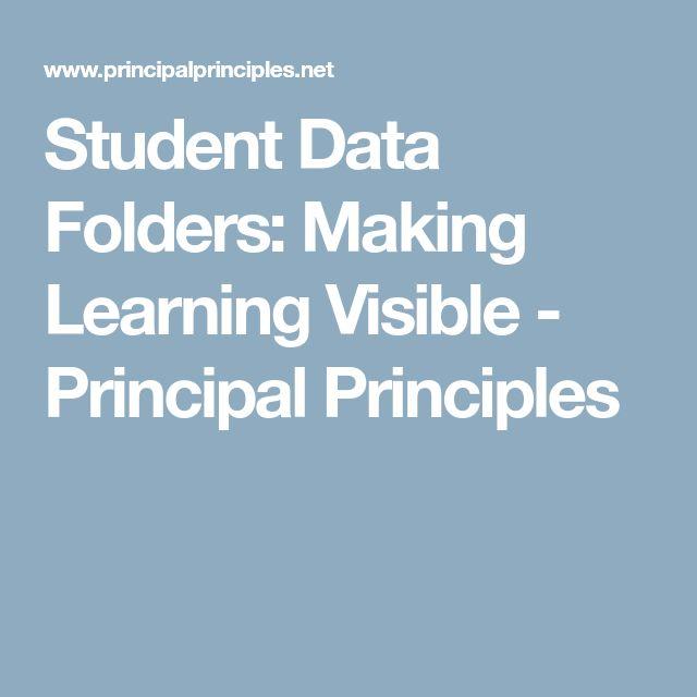 Student Data Folders: Making Learning Visible - Principal Principles