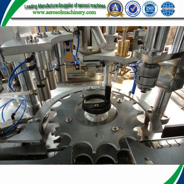 Aerosol filling machine for pintura+de+aerosol+de+bronce+para+el+metal     More: https://www.aerosolmachinery.com/sale/aerosol-filling-machine-for-pinturadeaerosoldebronceparaelmetal.html