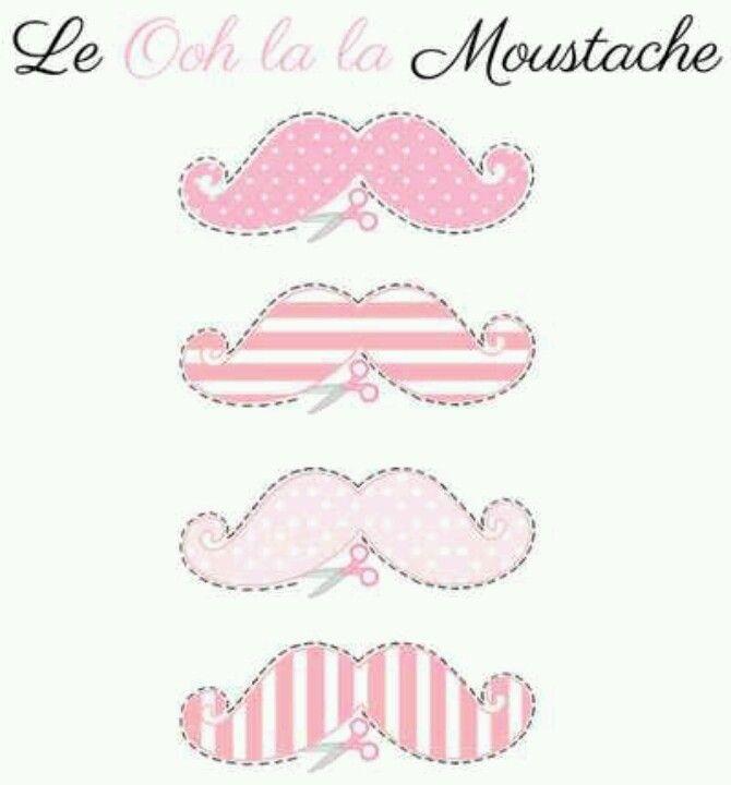 Caretas y coronas .bigotes de colores. moustache