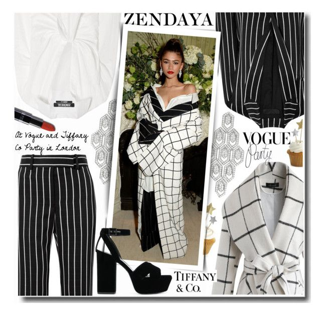 Zendaya at Vogue and Tiffany Co Party in London by anne-mclayne-andreea-miclaus on Polyvore featuring Jacquemus, Chicwish, Haider Ackermann, Yves Saint Laurent, Bulgari, Crate and Barrel and Tiffany & Co.