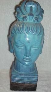 "Rare Rosenthal Netter Female Buddah Bust Rosenthal Netter Label: Made in Italy 25 3 -19 14"" high"