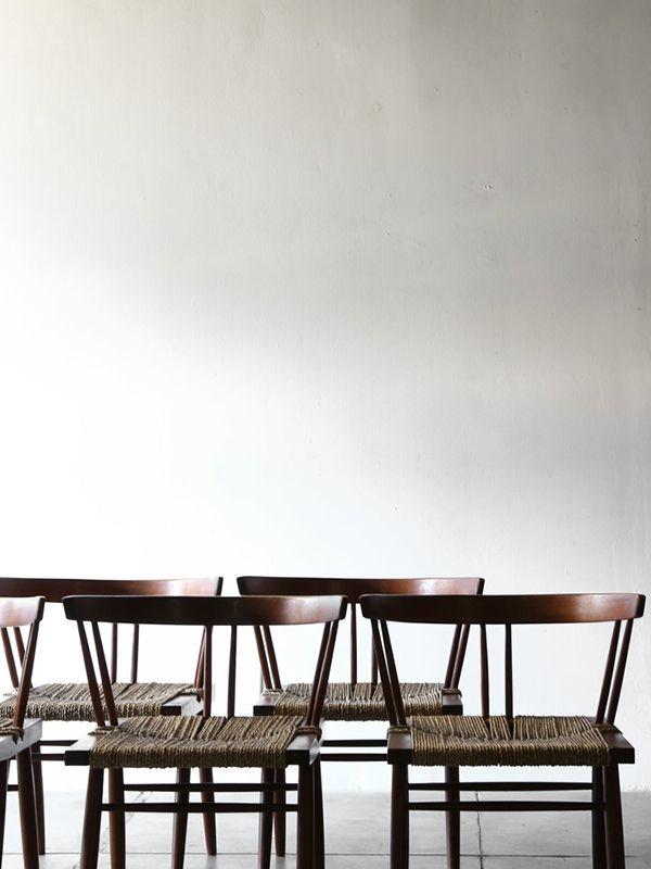 George Nakashima   Black Walnut and Woven Chair,1957.