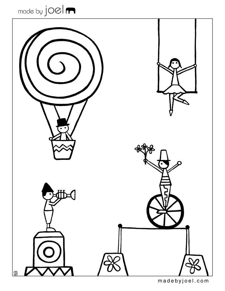 Made by Joel » New Circus Coloring Sheets!