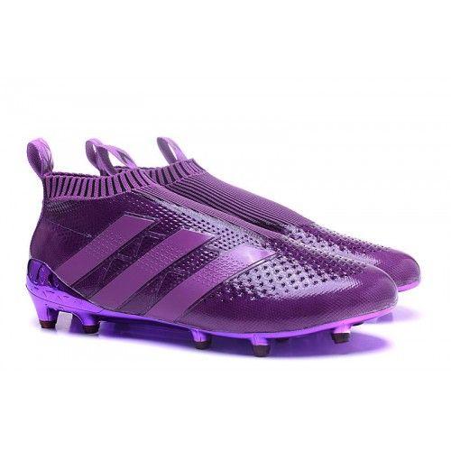 sale retailer 0c924 9fb84 Nuevo 2017 Adidas ACE 16 Purecontrol Purpura Zapatos De Soccer