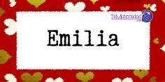 Conoce el significado del nombre Emilia #NombresDeBebes #NombresParaBebes #nombresdebebe - http://www.tumaternidad.com/nombres-de-nina/emilia/