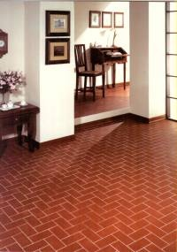 These red quarry tiles are warm and authentic Italian, fired earth quarry tiles.