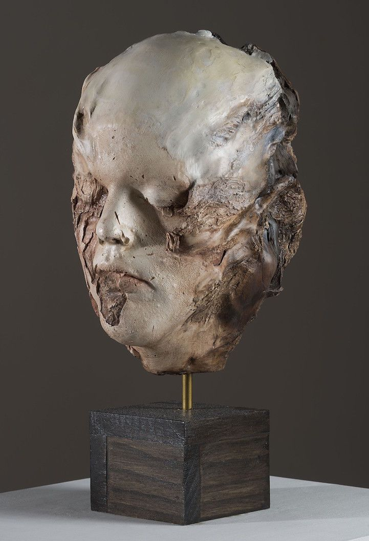 Artist Michelle Dicksonhas transcended the boundaries of what a self-portrait can be. In her current surrealist sculpture series, Neither Mine Nor Yours, Dickson merges a plaster cast of her own face with driftwood she's collected on hikes in the Baltimore and Washington, D.C. areas. The mix of plaster, oil paint, wax, and wood create an …
