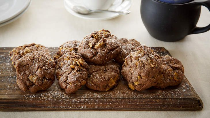 Cornflake choc biscuits. Photo: Marcel Aucar