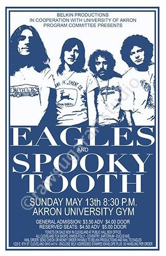 Eagles/Spooky Tooth 1973 Cleveland/Akron by ClevelandRockAndRoll