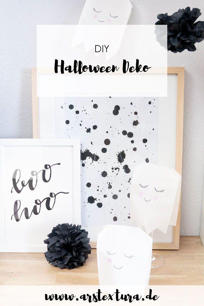 5 Ideen Fur Deine Halloween Party Geisterbasteln Pompons Aus Servietten Falten Und Geister Basteln Halloween De Halloween Kids Halloween Diy Happy Halloween