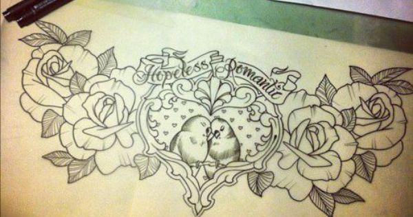 Romantic tattoos Hopeless romantic and Tattoo stencils on Pinterest