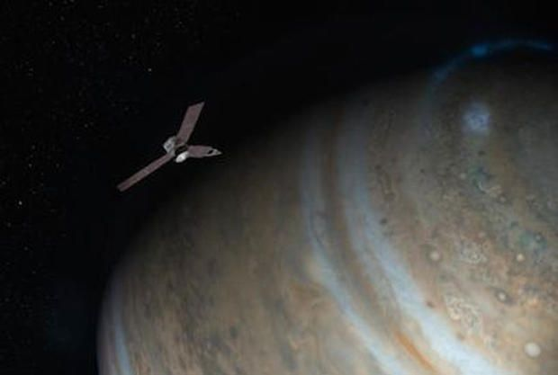 NASA launched Juno in 2011 as part of its New Frontiers program. Its mission: to fly to Jupiter and figure out how the planet was formed, what it's made of, and how its formation affected that of the Solar System. (Actually, any information about Jupiter would be nice. The whole planet is a great big mystery.)  The real story begins 4.6 billion years ago, when a giant nebula suffered a gravitational collapse. The resulting bedlam coalesced to form the Solar System. Jupiter is key to…