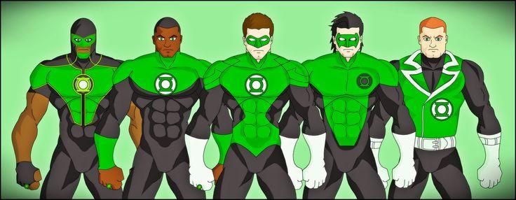 Green Lantern Corp: Green Lantern - (Simon Baz), Green Lantern - (John Stewart), Green Lantern - (Hal Jordan), Green Lantern - (Kyle Rayner), Green Lantern - (Guy Gardner)