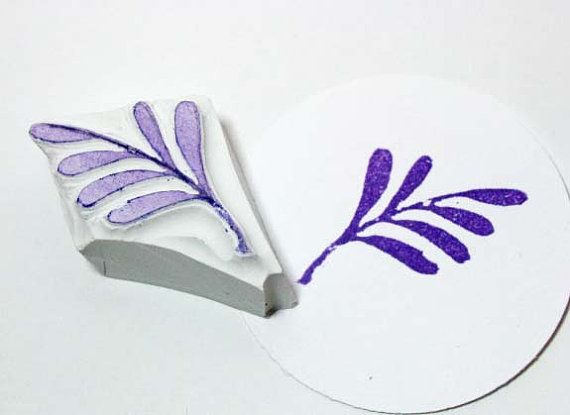 Decorative Branch Hand Carved Rubber Stamp/ by PearTreePapers, $4.49