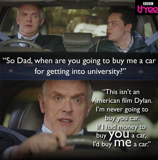 British Vs. American - Parents can help best by doing things like matching dollars in a savings account.  Let the kid earn a large portion, and show control enough to save it, then match it.  Buy the car for them if they get all A's.  Then the money they saved can get them an apartment.