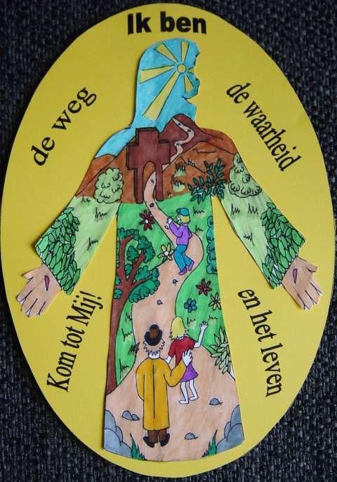 Ik ben de Weg, de Waarheid en het Leven, knutselwerkje bij de Bijbel