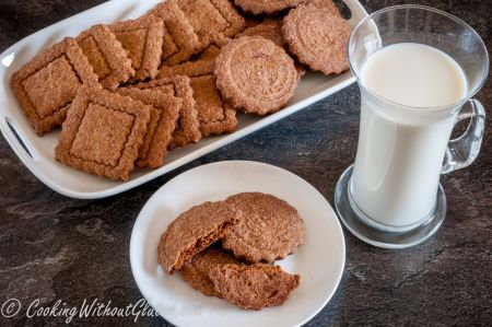 Organic buckwheat and organic millet gluten free biscuits, no starches or gums