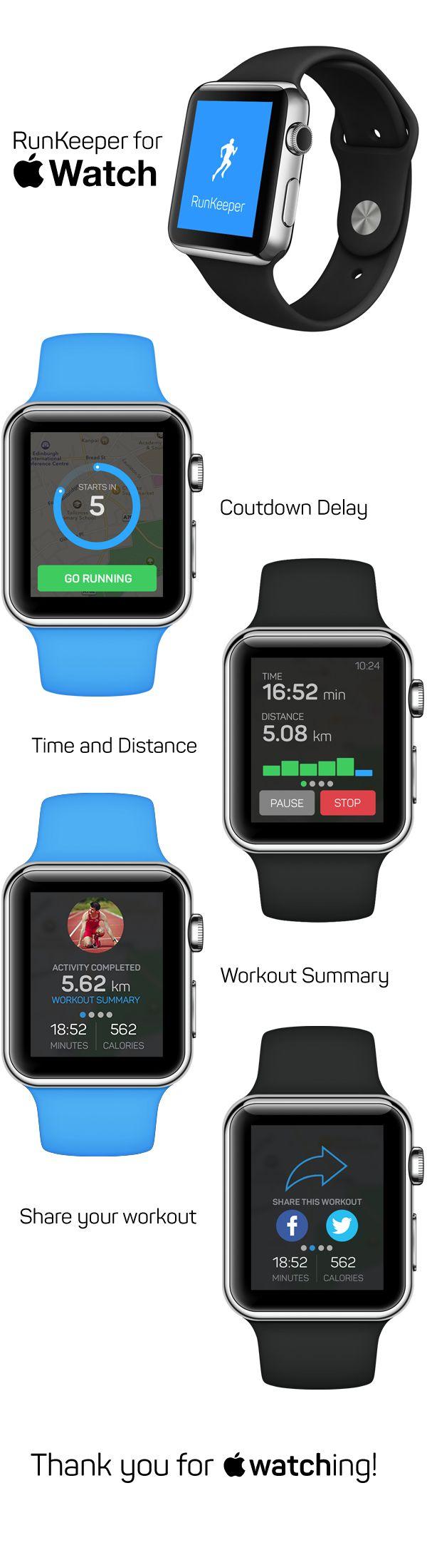 RunKeeper for Apple Watch on Behance