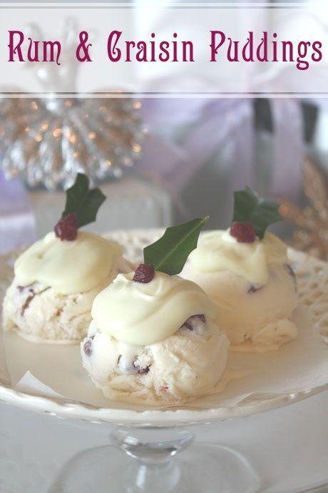 Not Quite Nigella's: Rum & Craisin Christmas Ice Cream Puddings...Try this with Millers Rum & Raisin or Pannacotta!