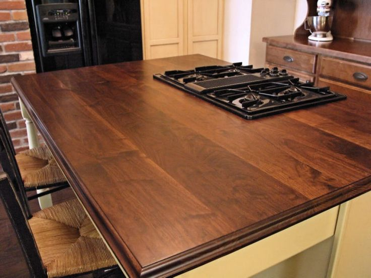 Kitchen Island With Gas Range Top And Walnut Countertops   Kitchen Wood  Walnut Countertops. 25  best Walnut countertop ideas on Pinterest   Wood countertops